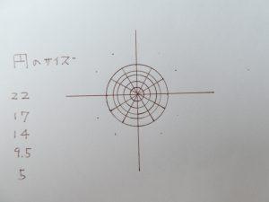 円を12当分にした製図です。