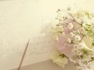 季節のお花のブーケです。
