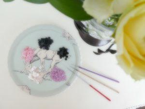 花びらの刺繍に使うスパンコールです。