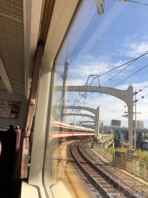 いつもの電車に乗って。