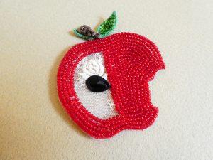 カットワークしたリンゴです。