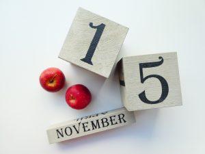 11/15のカレンダーです。