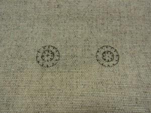 同心円の製図があります。左右の円の大きさは同じです。内側が6の大きさで8等分です。外側が11.5の大きさで12等分です。