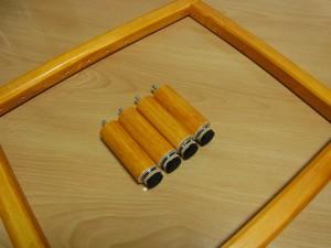 アリワークに使用する木製の木枠です。長方形で足の部分が取り外せます。