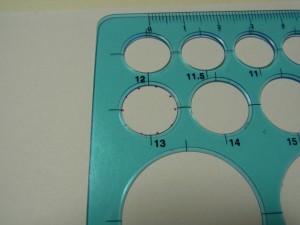 印にスケールを合わせて、円の大きさが決まります。