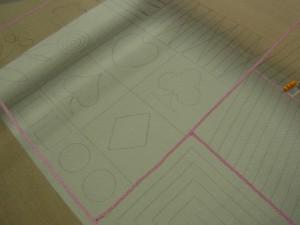 アリワークの基礎課題です。直線がたくさん描いてあります。