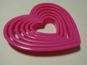 ピンクのハート型