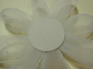 円形とゴムインベルを縫い合わせます。