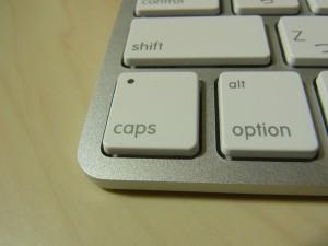 キーボードの大文字入力に変換するボタンです。