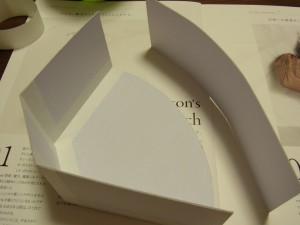 底面の曲線部分を貼っていきます。