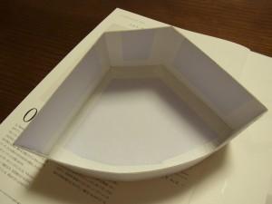 ペーパーフィルターの形をした箱の組み立てができました。