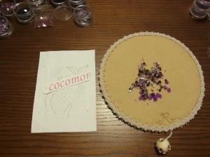 ビーズ刺繍をする為の製図が完成しています。