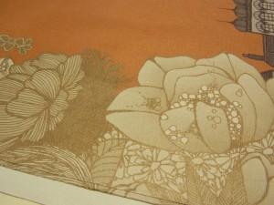 頂いた紙袋におおきなお花が咲いている絵柄です