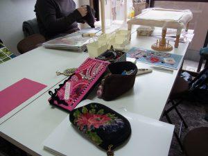 恵比寿でビーズ刺繍のレッスンです。