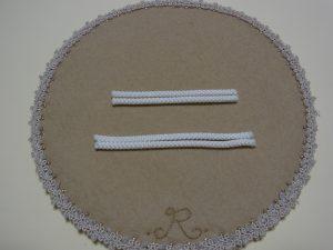 長さの違う紐10cm 7.5cmが2本づつあります。