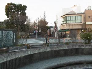 田園調布駅前は道路脇の街路樹が綺麗です。