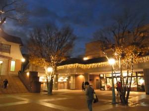 田園調布の駅前は、イルミネーションでキラキラです。