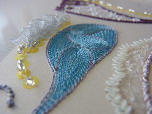 アリワーク課題 (ミラー)糸刺繍をします。