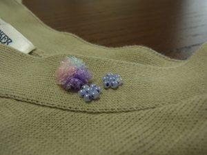ニットのセーターをリメイクしました。