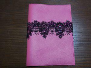ピンクのBOOKカバーです。