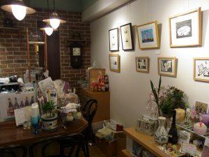 cafe 青りんごの店内です。